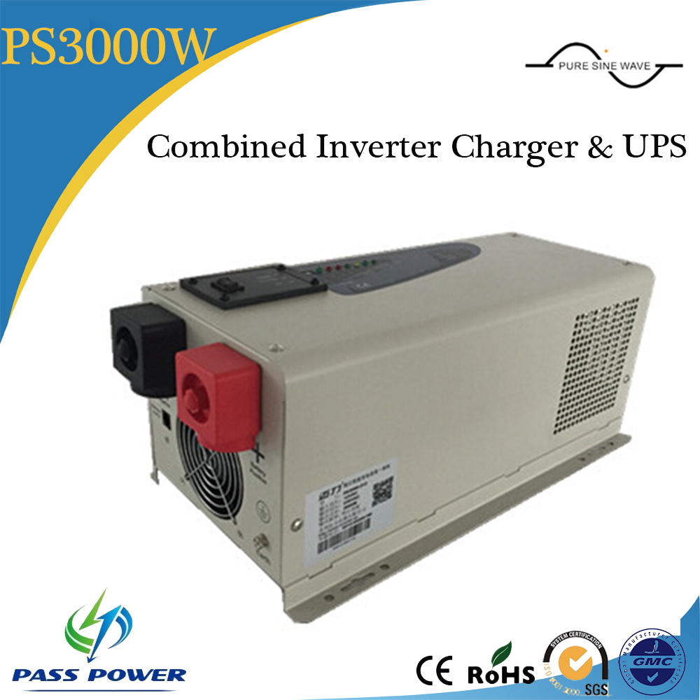 low frequency pure sine wave 3000w Hybrid solar inverter combined inverter and charger with UPS(China (Mainland))