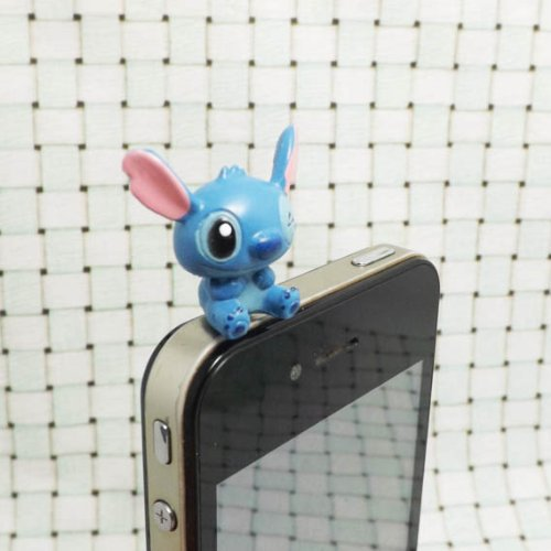 Free shipping Cartoon Lilo & Stitch 3.5mm Headphone Dust Plug for iPhone 4 4S 5 5S HTC Samsung Blackberry Sony Nokia etc(China (Mainland))