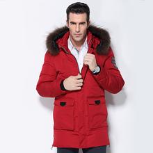 Men's Down Jacket Fur Collar Coat 2016 Stylish Winter Jacket Men Long Waterproof Green Parka Chaquetas Hombre Down Coat For Man(China (Mainland))