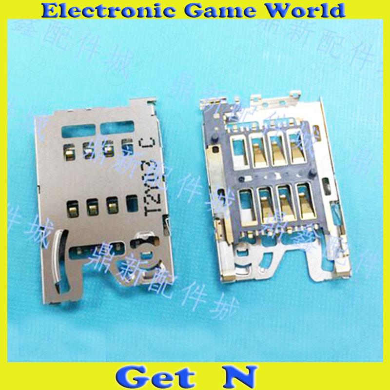 10pcs 8Pins Inner Soldering Original SIM Card Slot Connectors Tablet PC Phone SIM Sockect Gold-plating(China (Mainland))