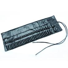 Professional Makeup Artist Brush Organizer Bag 32 Pockets Cosmetics Tool Makeup Bag Travel Portable Makeup Case(China (Mainland))