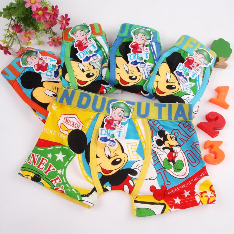 3pcs/lot Children's underwear cartoon mickey kids boy underwear briefs panties for girls boy boxers baby boy clothes(China (Mainland))