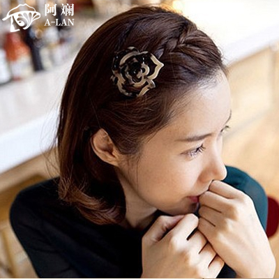 AZ Korean goods into the retro leopard rose girls hair headdress hairpin clip Korean side clamping card bangs(China (Mainland))