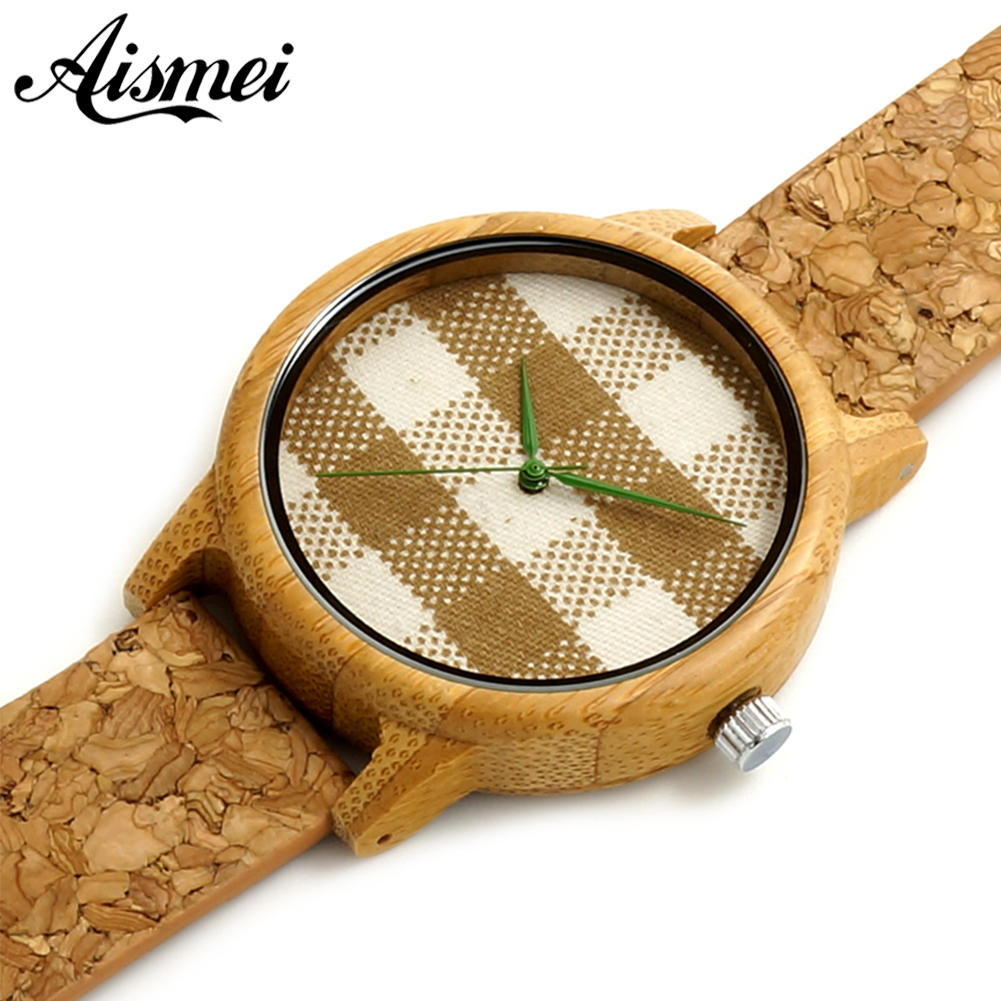Women Mens Watches Luxury Wood Watches fabric face design With Real Leather Bands in Gift Box relogio masculino relojes mujer(China (Mainland))
