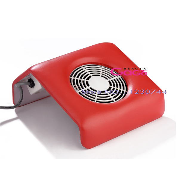 Beauty Red Color Acrylic UV Gel Polish Dust Suction Strong Fan Nail Dust Collector Nail Gel Polish Manicure Tools Equipment(China (Mainland))