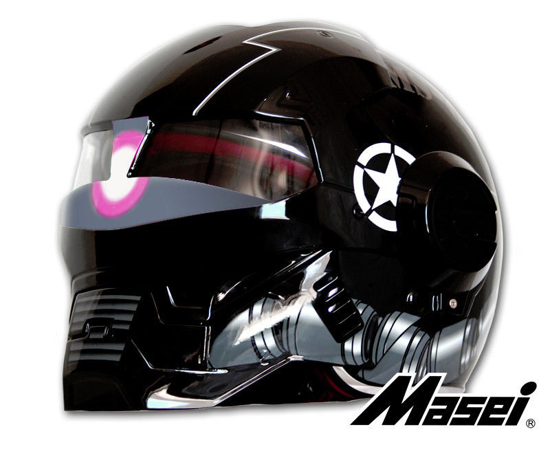 masei 610 zaku us army motorcycle bike chopper helmet