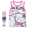 Hello Kitty Girls Clothes Summer 2016 Kids T shirt Girls Sleeveless Top Children Clothing Girls T