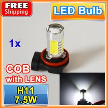 Buy H11 7.5W High Power Car LED Headlight Super Bright Auto Fog Lamp COB 12V XENON White Bulb for $3.00 in AliExpress store