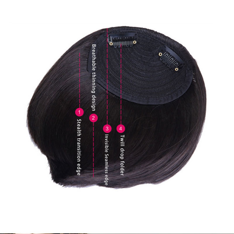 1Pcs 16cm Natural For Women Easy To Comb 30g Light Fiber High-Temperature Wire False Bangs Hair One of Neat Sweet Hair(China (Mainland))