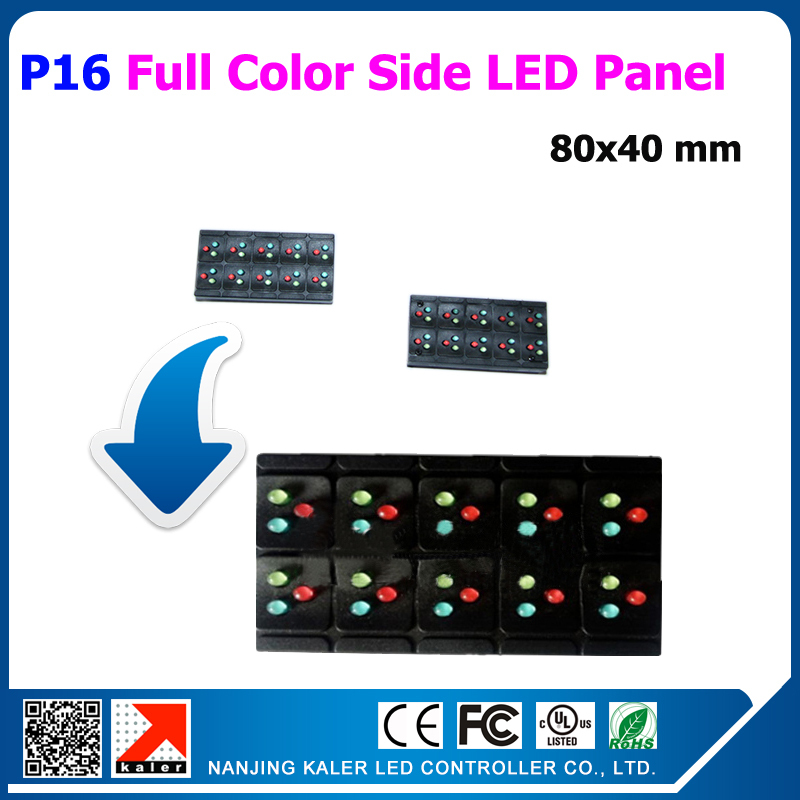 New products 50pcs a lot small size 80*40mm led display panel p16mm full color led panel for led display no need program(China (Mainland))