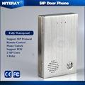 Audio Door phone IP Door Phone Access Control System SIP Intercom Compatible with Asterisk Alcatel Avaya