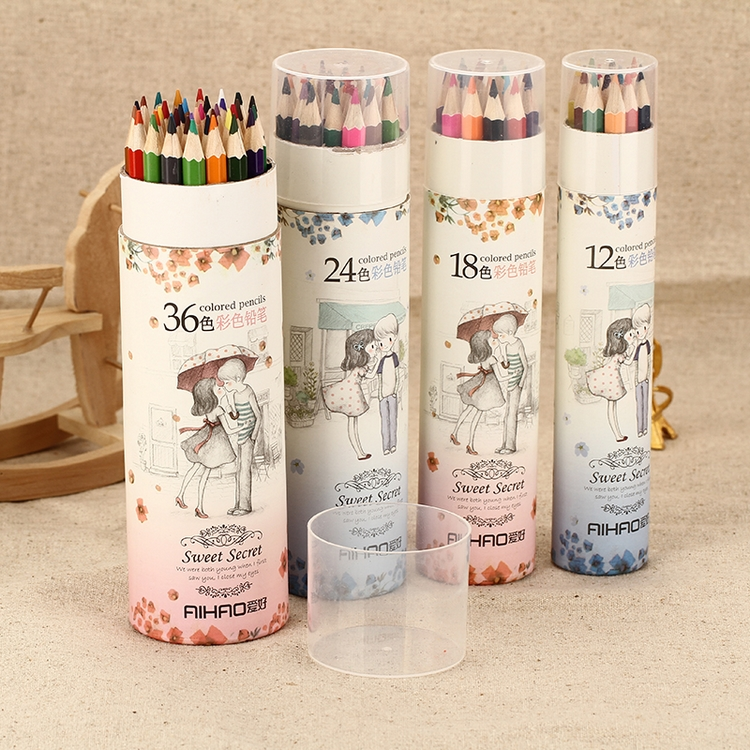 New arrival love story bottled portable 36 colored pencil lead 9020 - 12 18 24 36<br><br>Aliexpress