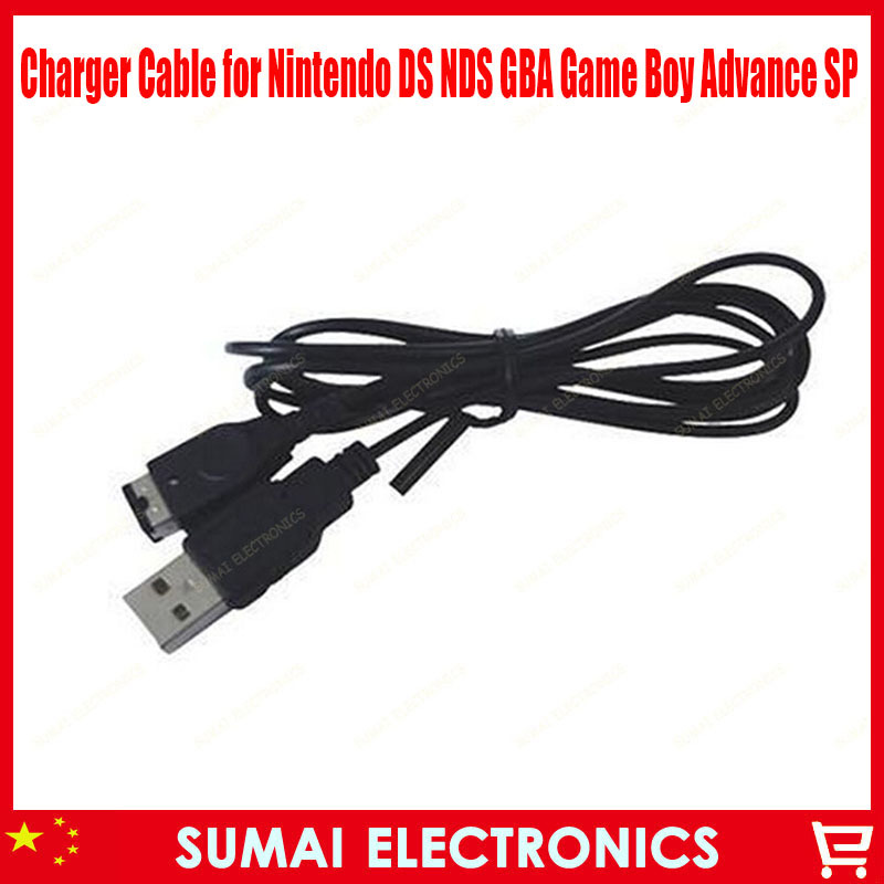 Free Shipping 25pcs/lot USB Power Supply Charger Cable for Nintendo DS NDS GBA Game Boy Advance SP(China (Mainland))
