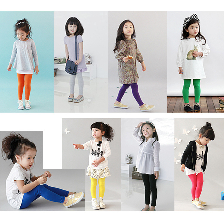 New Arrive 2015 Autumn Childrens Clothing  Modal Pants Colorful Candy Baby Girls leggings Girls Trousers<br><br>Aliexpress
