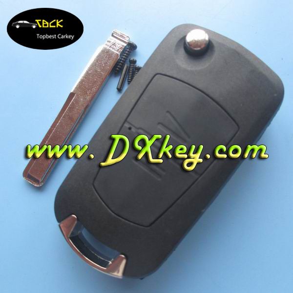 Best price 2 button car flip key shell with HU43 key blade for Opel car key Opel astra key(China (Mainland))