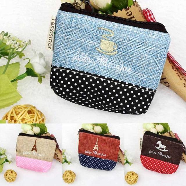 Горячей Стиль Моды Холст Красочные Маленькие Женщины кошельки и сумочки с Zip Бумажник ...