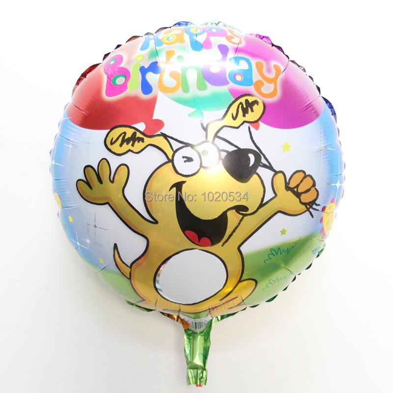 Hot!wholesale 50pcs/lot dog balloons cartoon happy birthday Foil Balloons for birthday Decorations party supplies Helium Balloon(China (Mainland))