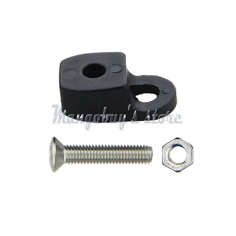 50 Sets Kayak Canoe Fixed Rope Buckle Safety Deck Fitting + 50 Screws and Nuts(China (Mainland))