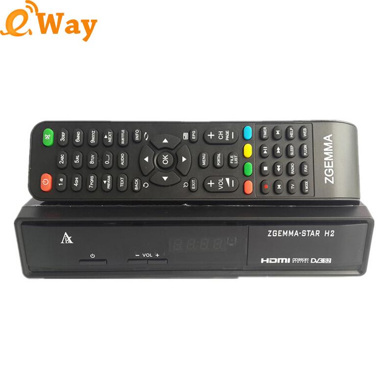 Cheap Zgemma Star H2 Satellite TV Receiver Twin DVB S2+T2/C Digital Set Top Box MIPS 751MHz CPU Linux os media player 5pcs/lot(China (Mainland))