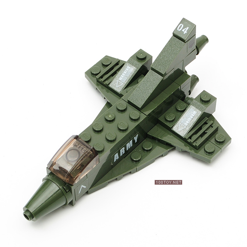 Free shipping Fighter attack aircraft fighter bombardment machine model building blocks toy set toy(China (Mainland))