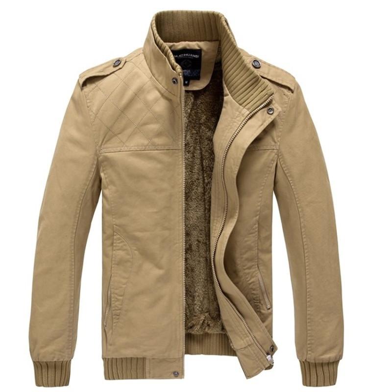 2016 Men High Quality Fashion Jacket 4xl British Style Men Winter Casual Khaki Jacket Military