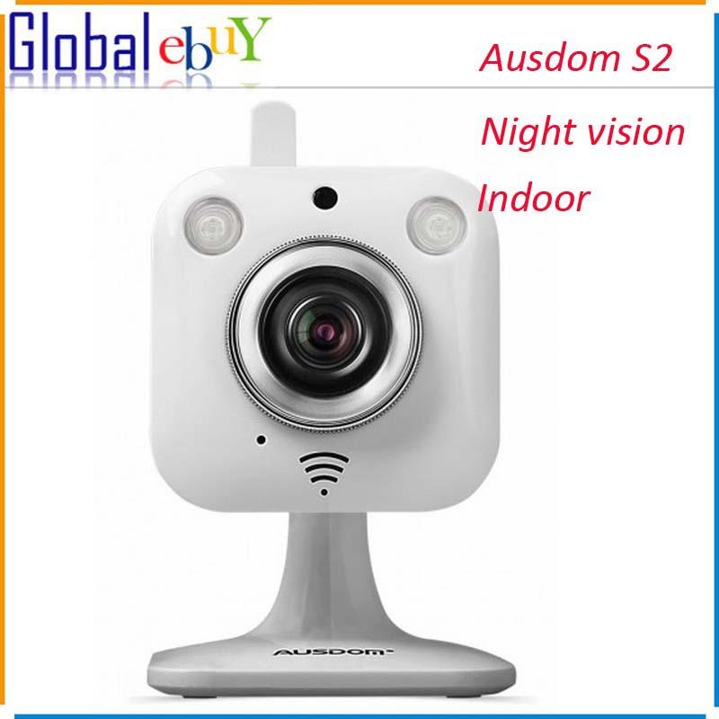 AUSDOM S2 Indoor Mini Wireless IP Camera WiFi P2P HD 720P Cloud Camera Night Vision Pan/Tilt Two Way Audio Security Camera(China (Mainland))