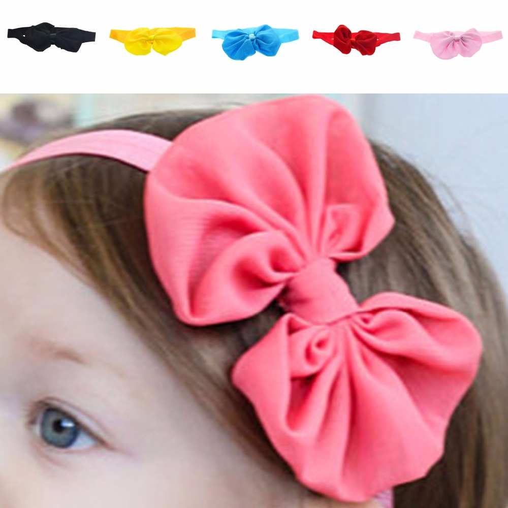 New Brand Big Bow Shaped Baby Girl Headbands for Christmas Gift(China (Mainland))