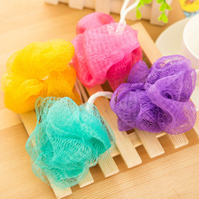 2016 New 1 PCS Multicolor Flower Bath Ball Loofah Shower Mesh Brush Bathing Accessories(China (Mainland))