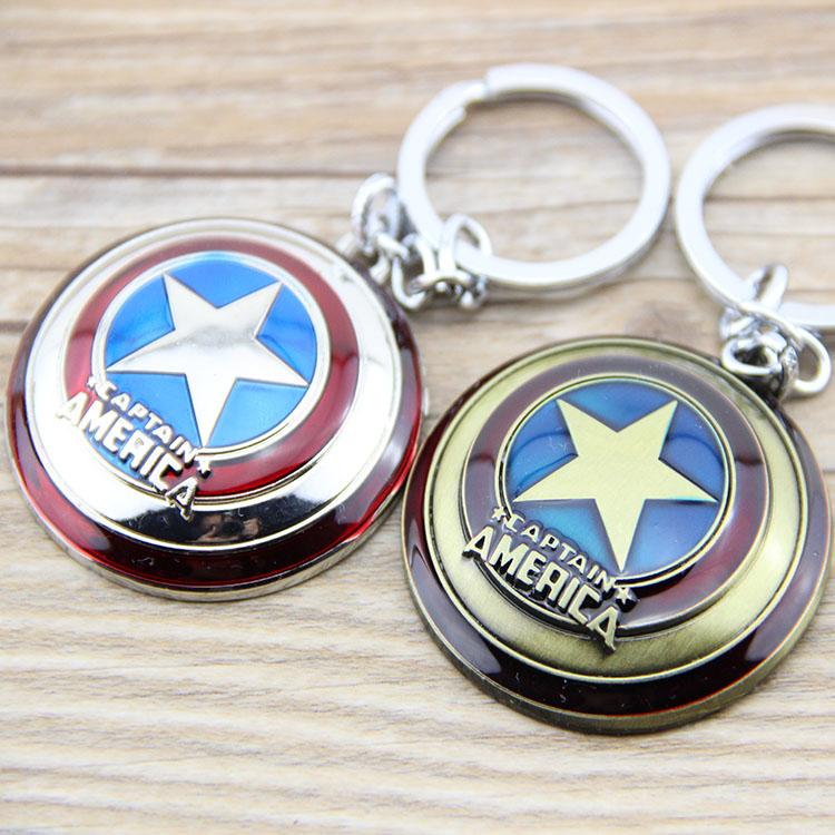 Wholesale Super Hero The Avengers Captain America Shield Metal Keychain Pendant Key Chain Chaveiro Gift For Men Boys Cheap KT170(China (Mainland))