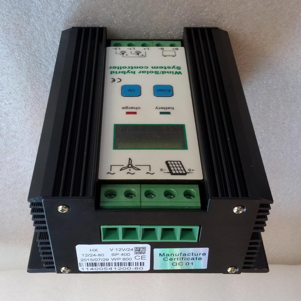 Wind Solar Hybrid Controller 80A 1200W MPPT Solar Power 400W, Wind Generator 800W, 12V 24V Intelligent Hybrid Charge Controller<br><br>Aliexpress