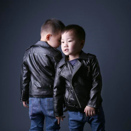 2015 Hot Fashion Autumn Winter Children Motorcycle Faux PU Leather Jackets Kids Thick Outerwear Boys Warm Coats(China (Mainland))