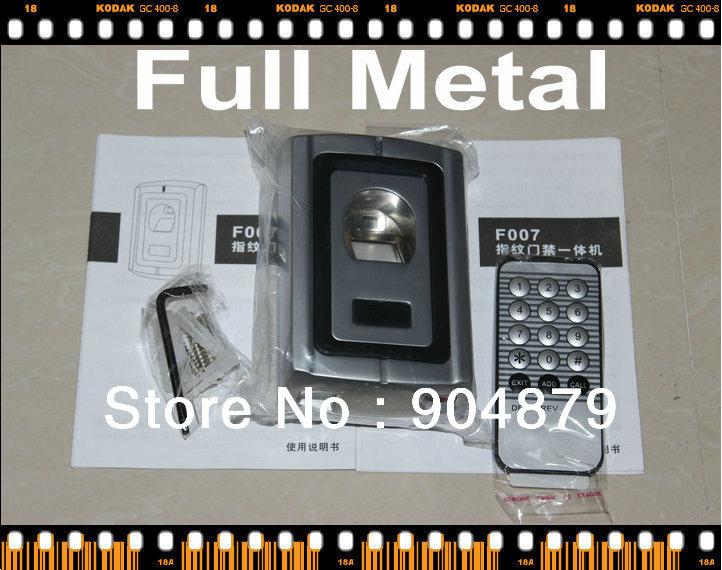 Free Shipping Waterproof Metal Access Controller Fingerprint Reader, Fingerprint Access Control Store 120 Fingerprints