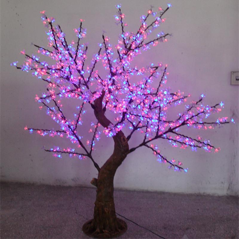 xmas lights Led tree light led high artificial cherry tree 2 meters 1152 lamp led cherry blossom tree lights(China (Mainland))