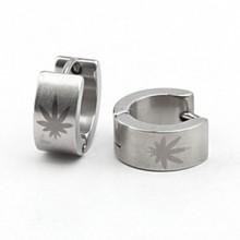 316L Stainless Steel hip hop earrings fashion  Personalized silver sun pattern  men's jewelry wholesale Hoop Earrings(China (Mainland))