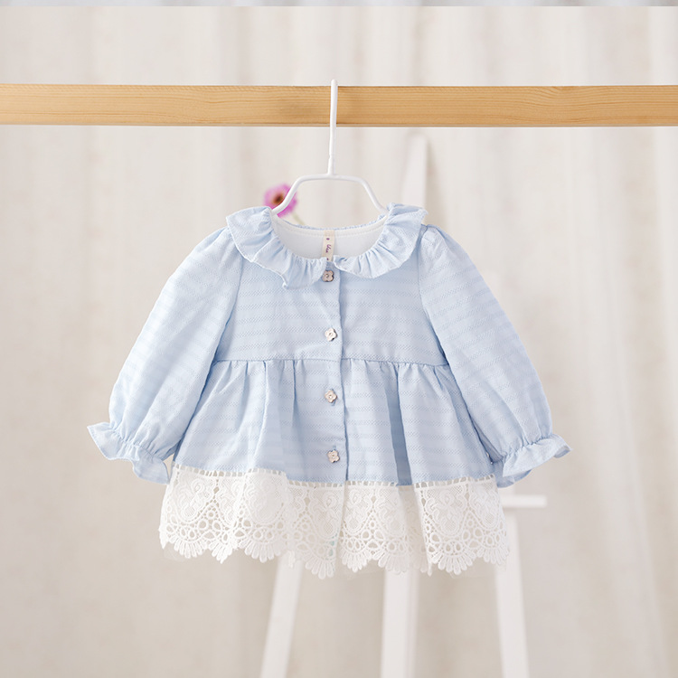,3 colors,2016 New,baby girls spring princess outerwear,children lace jackets tops,button,
