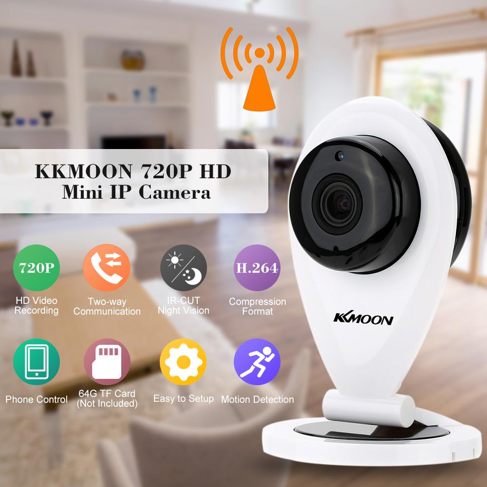KKMOON 1.0MP HD Mini Wifi IP Camera P2P IR Night Vision Wireless CCTV Security Camera Smart P2P Baby Monitor Support TF Card(China (Mainland))