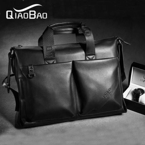 2016 Promotion Bags Genuine Leather Man Bag Business Messenger Bag Fashion Document Laptop Bag(China (Mainland))