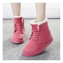 Mujeres Botas Botas Femeninas Nieve Botas de Piel de Invierno Cálido Botines Zapatos de Las Señoras Negro(China (Mainland))