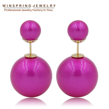 Newest Design Factory Price Wholesale 8colors Free Shipping 2014 Trendy Imitation Shell Beads Pearl Korea Earrings