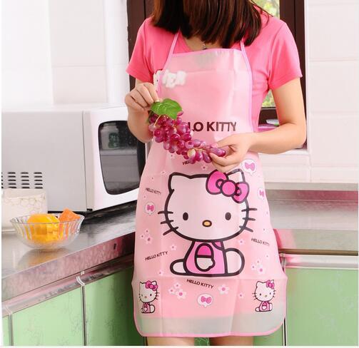 Free Shipping Waterproof PE Kawaii Jingle cats Adult Women Lady's Kitchen Cooking Pinafores Aprons Cartoon Novelty(China (Mainland))