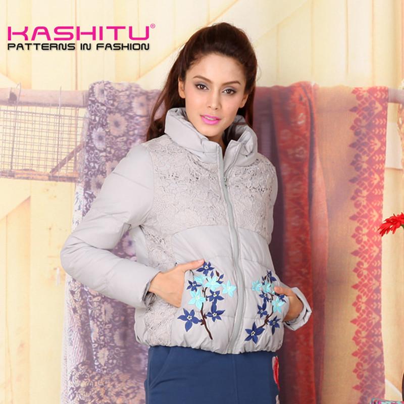 High Quality KASHITU Wadded Jacket Female 2015 New Women'S Winter Jacket Down Cotton Jacket Slim Parkas Ladies Coat C0A267