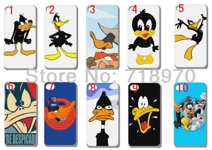 2015 hybrid Cartoon Daffy Duck w white hard cases for iPhone 4 4S 4G +free shipping(China (Mainland))