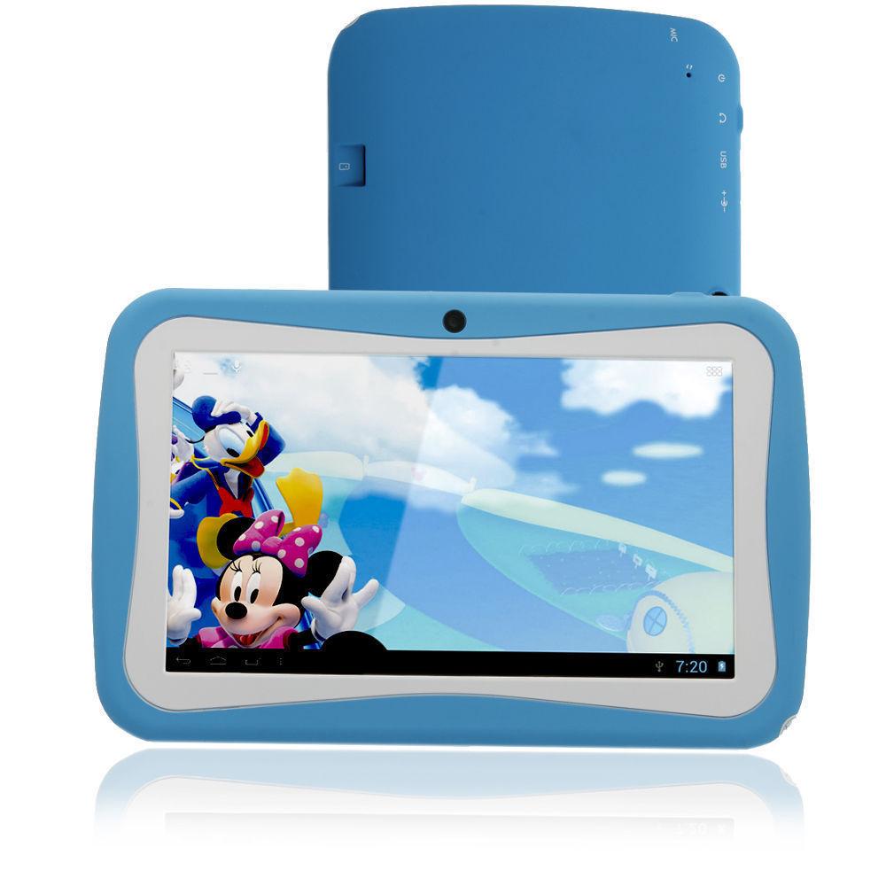 7 Inch KIDS Android Tablets PC 512MB 8G WIFI  Bluetooth Fm Dual camera 512MB 8GB 800*480 lcd 7 tab pc