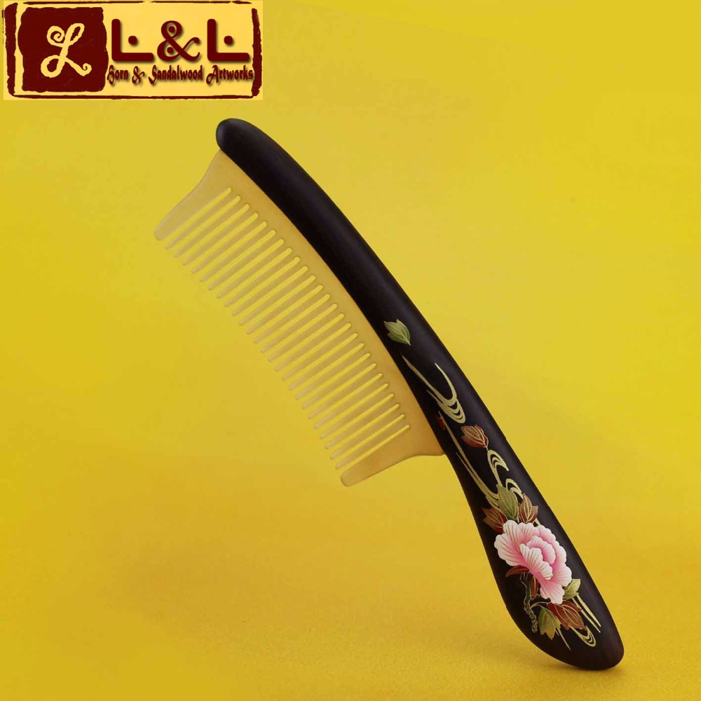 Natural Blackwood Splicing Sheep Horn Professional Hair Combs Hair Care Comb Magic Wooden Hairbrush L-296<br><br>Aliexpress