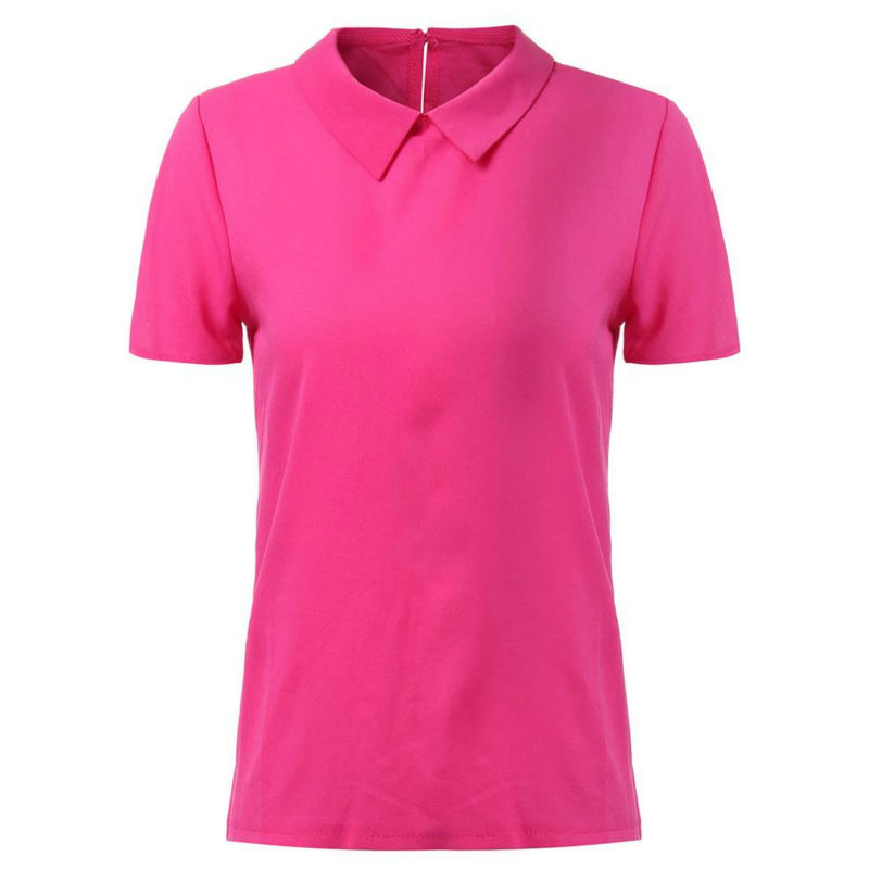 2016 Plus Size S L Polo Femme Brand Short Polo Shirt Women