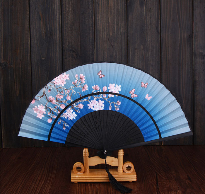 (10 pieces/lot) New elegant wedding fans Handmade orient ladies' hand fans Fancy party favors Different colors available(China (Mainland))