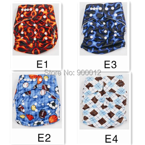 2014 Hot Sale Diapers Printed Washable Reusable Baby Nappies One Size  Baby  Diapers Nappies Free Shipping 200 pcs