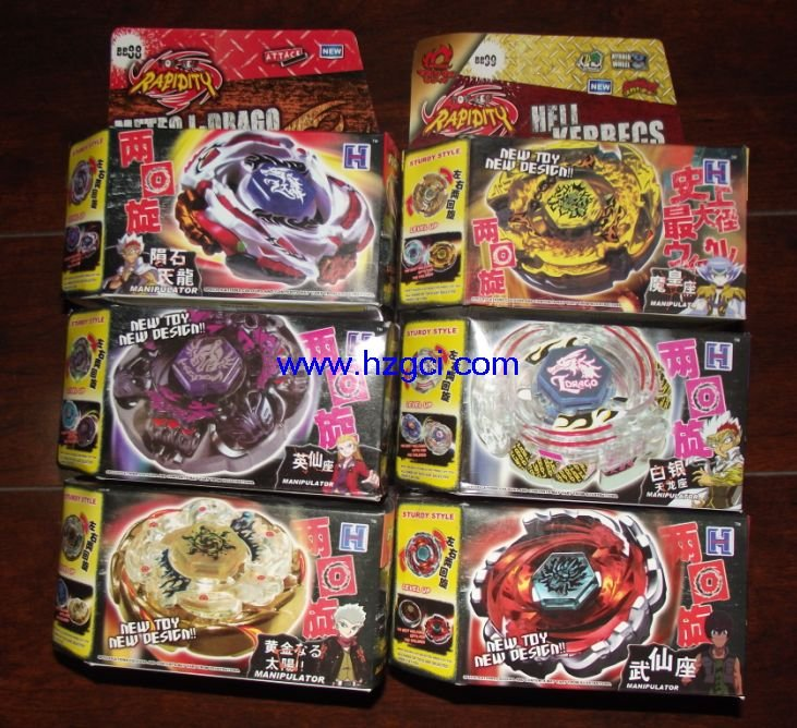 freeshipping 6pcs/carton spin top toy Beyblade metal top toy,super battle,metal fusion(China (Mainland))