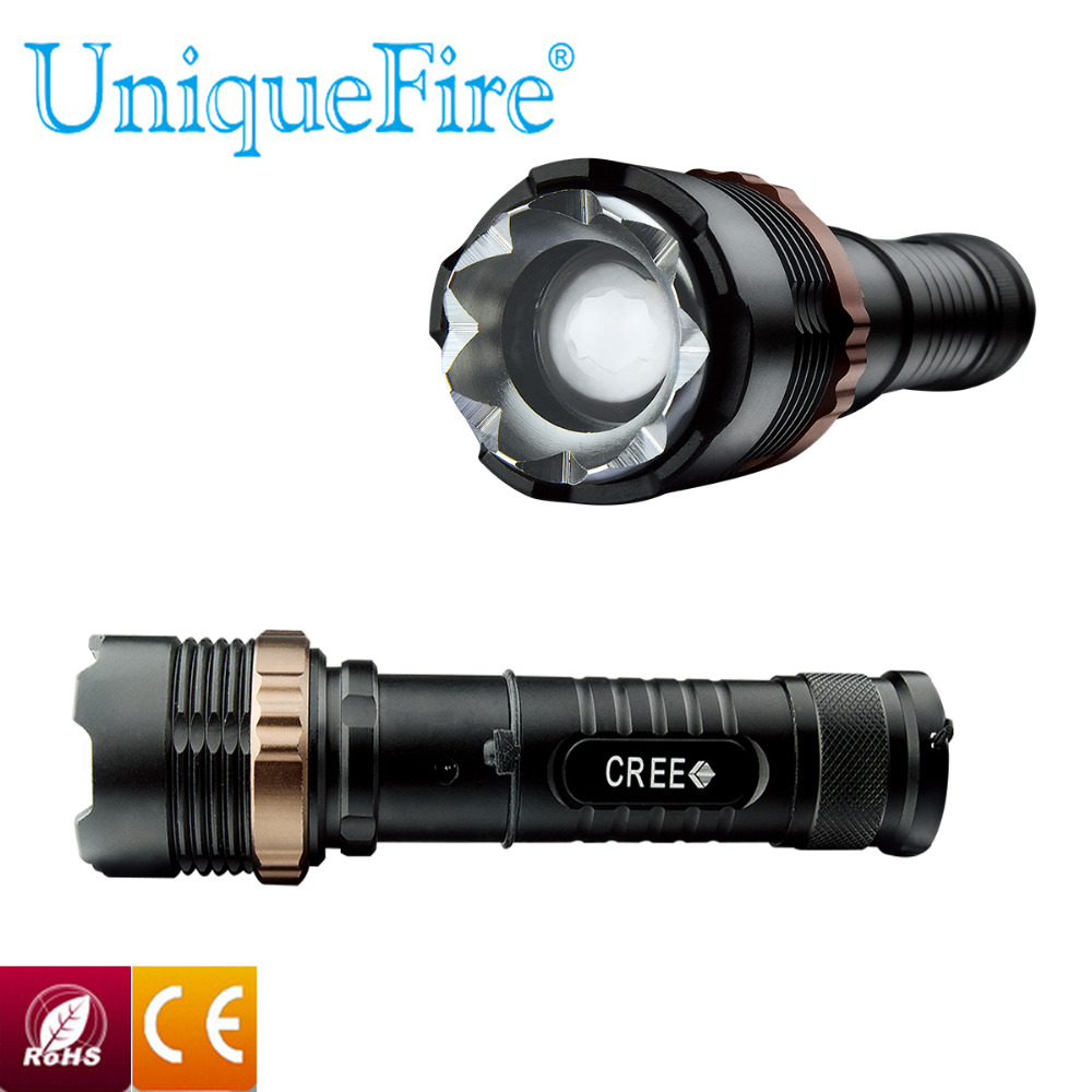 UNIQUEFIRE Mini 100% Authentic V23B 3-Mode CREE LED Flashlight Zoomable Focus Torch by 1*18650 or 3*AAA Free shipping<br><br>Aliexpress