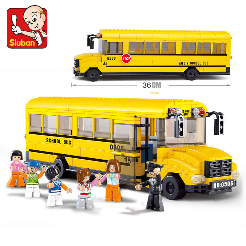 SLUBAN School bus 392 pcs learn & education DIY Toys Compatible with Lego enlighten building blocks Bricks for child's toy(China (Mainland))